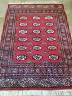BOKHARA Hand Knotted Pak/istan, Signed 4.2 X 5.9 Rectangle, Oriental Red Rug