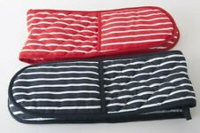 Double Oven Gloves Butcher Stripe Quilted Cooking Pot Holder Heat Resistant New