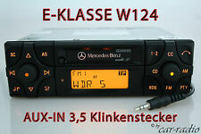 ORIGINALE Mercedes Audio 10 be3200 Aux-in mp3 Autoradio w124 E-Classe CASSETTA