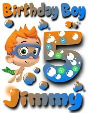 New Personalized Nonny Bubble Guppies T Shirt Party Favor Birthday Present Gift