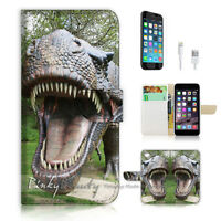 ( For iPhone 7 ) Wallet Case Cover P1198 Dinosaur