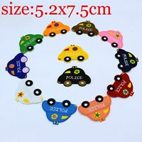 12Pcs Police car Fabric Embroidery Iron Sew On Patches Motif Appliqué Kids Gift