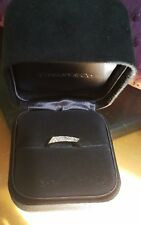 Tiffany & Co Frank Gehry Diamond TORQUE 18k White Gold Band Ring - size 4.5