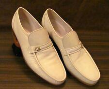 Florsheim Imperial Men Sz 13 D Loafers Leather Ivory Moc Toe Slip On Vintage