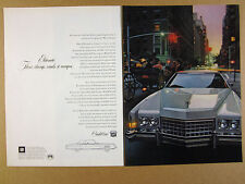 1972 Cadillac Eldorado Coupe white car photo vintage print Ad