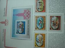 Aus Abo - Olympische Spiele 1980 :  1 Luxus - Block xx + satz TSCHAD sportarten