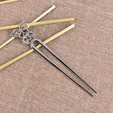 U forma retro metal pelo horquilla pelo PIN pelo Pick cuadrado pelo clip joyería