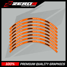 "KTM 85 SMALL WHEEL MOTOCROSS RIM DECALS GRAPHICS MX STICKERS 17"" 14"" ORANGE BLK"