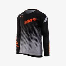100% R-Core SUPRA DH LS Jersey Black/Grey MD