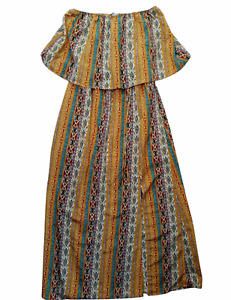 Daytrip Strapless Dress Womens Multicolor Size Small