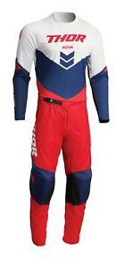 Thor MX Sector Chev / Birdrock Jersey & Pant Combo Set ATV Motocross Riding Gear