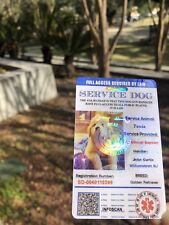 ADA Service Dog Card ID Badge Assistance Animal Badge ESA Holographic Charity