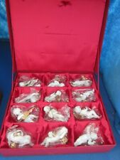 Franklin Mint The Heralding Angels Christmas ornaments, set of 12 - Never Used