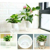 1x Self-watering Plastic Plant Flower Pot Wall Hanging Planter Home Garden Decor