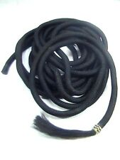 D.A. Brand Black 22' Poly Blend Mecate Reins with Horse Hair Tassel horse tack