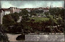 Frankenberg Sachsen 1903 Friedenspark Siegesdenkmal gelaufen Stempel Chemnitz