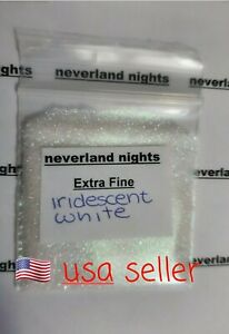Iridescent White Extra Fine Glitter for nails, acrylic, gels,crafts, 3g