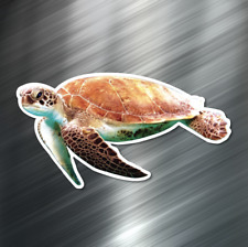 (1) ONE Sea Turtle Vinyl Decal Sticker For Car Laptop Skateboard Ocean Beach New