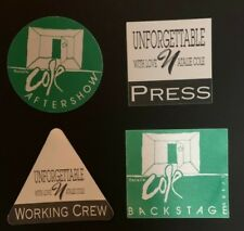 NATALIE COLE Authentic Concert Back Stage Pass SET of 4