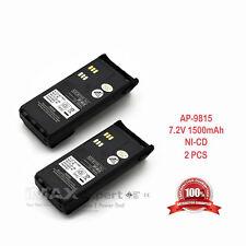 2 x 1500mAh Ni-Cd Ntn9815 Ntn9858 Battery for Motorola Pr1500 Mt1500 Radio