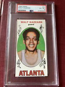 WALT HAZZARD 1969 Topps card PSA ex-mt 6 ATLANTA HAWKS #27 UCLA BRUINS la lakers