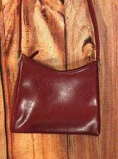 Liz Clairborne Womens Basic Red w/ Gold Plain Shoulder Bag Purse {#E#}