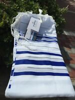 "Kosher Tallit Talis Prayer Shawl acrylic 24""X72"" Made in Israel Blue And Silver"