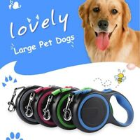 Heavy Duty Large Dog Puppy Extendable Retractable Lead Set 8M Up To 50KG Dogs-