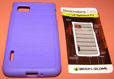 Body Glove Dimensions Case for LG Optimus F3, Purple, one piece Gel slip on
