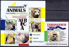 Gambia 2013 KB & Block ** MNH Endangered Animals Gefährdete Tiere