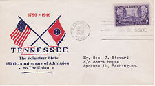 POSTAL HISTORY-1946 TENNESSEE 150TH ANNIVERSARY OF ADMISSION TO UNION NASHVILLE