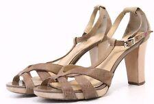 Ann Taylor LOFT Womens Dress Sandals Shoes Size 6 Beige Nude Leather Heels Pumps