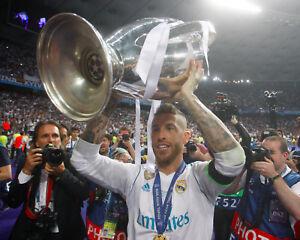 Sergio Ramos Real Madrid Champions League Unsigned 8x10 Photo #5