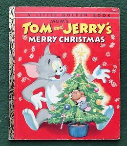 Tom and Jerry Merry Christmas Little Golden Book MGM Hanna Barbera cartoon 1954