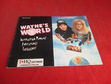 Wayne's World Nintendo NES Instruction Manual Booklet ONLY