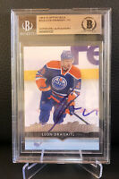 Leon Draisaitl Signed 2014 Upper Deck Young Guns Auto Card #223 Oilers BGS BAS