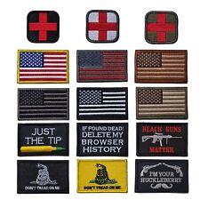 Bundle 15 Pieces Tactical Military Morale Velcro Patch Set USA Flag Patches