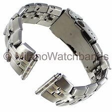16-22mm Speidel Stainless Steel Semi Solid Link W/ Clasp Mens Watch Band 1006Wr