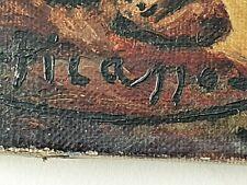 Pablo Picasso Original rare vintage landscape oil painting hand signed No print!