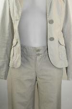 Esprit Hose 36 beige grau gestreift Baumwolle - wie neu (Blazer auch da)