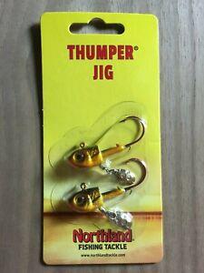 Northland Fishing Tackle - Thumper® Jig - Gold Shiner - 3/8 oz.