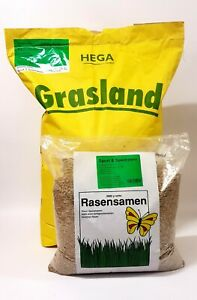 HEGA Grasland Rasensamen Sport und Spiel Grassamen Saatgut Rasen Gras