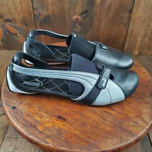 Puma Espera Rainbow Womens Size 10 Black Silver Flats Ballerina