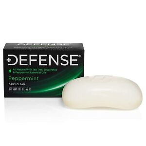 DEFENSE Soap Bar 4 oz Peppermint - 100% Natural & Herbal Grade - BEST VALUE!