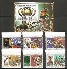 Guinea-Bissau SC # 383-383a-f World Cup Soccer Argentina'78. perforated . MNH