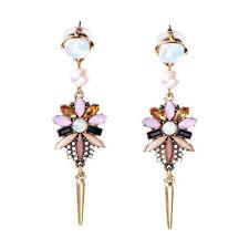 E1772 Brand New Design Style Opal Zircon Stone Gem Chandelier Spike Drop Earring