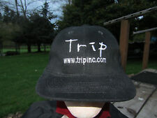 TRIP BLACK BASEBALL HAT CAP SZ ADULT ADJUSTABLE