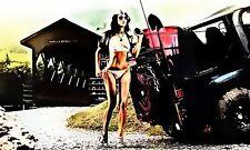 POSTER XXL POP ART EROTIK SEX FRAU AUTO HIGH HEELS SEXY FETISCH 100x60
