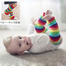 plush baby gift Rainbow Stripes Children socks leg warmers knee cap sock 1pair