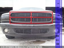 GTG 1997 - 2004 Dodge Durango 4PC Gloss Black Upper Overlay Billet Grille Kit